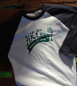 Custom baseball tees for the HK Clancy golf outing.