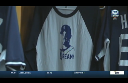 Fox Sports Detroit featured our shirts on the 5/20/2015 pre-game show.
